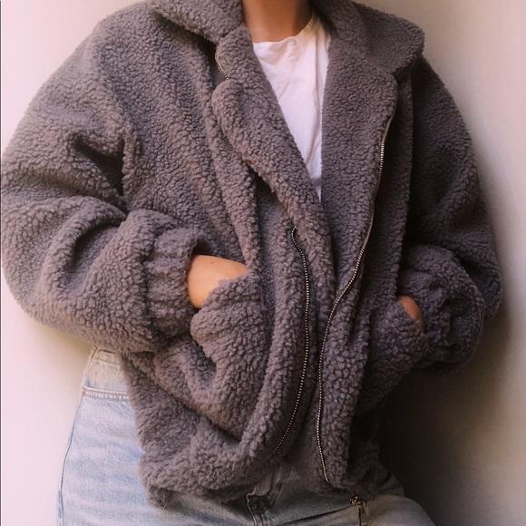 Zaful Jackets & Blazers - NEVER WORN comet colored teddy jacket